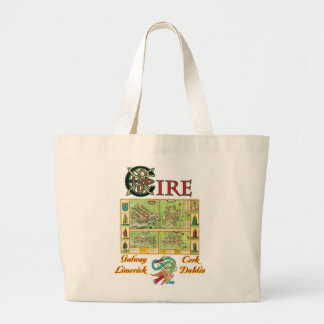 Eire Cities Map Bags