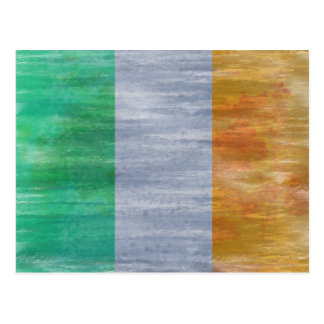 Eire distressed flag postcard