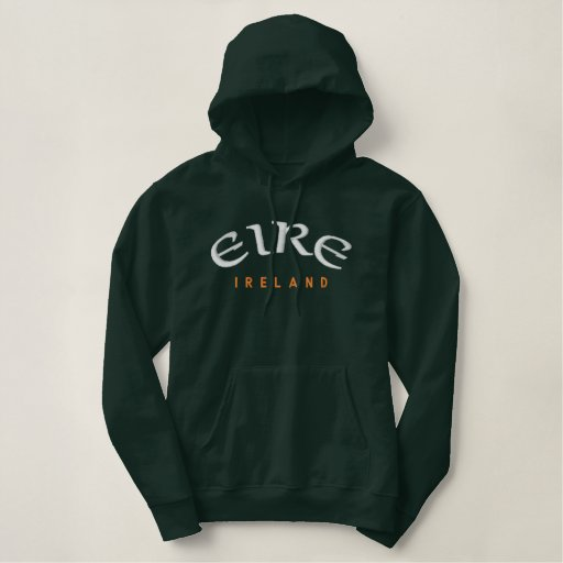 EIRE, Ireland Embroidered Pullover Hoodie