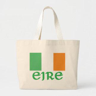 EIRE Irish Flag Large Tote Bag