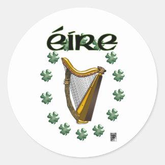 eire round sticker