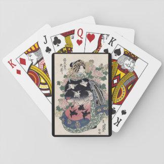 Eisen Ukiyo-e Geisha Playing Cards