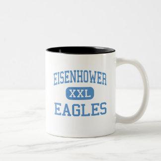 Eisenhower - Eagles - High - Lawton Oklahoma Two-Tone Coffee Mug