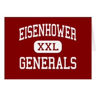 Eisenhower - Generals - Junior - Darien Illinois Greeting Card