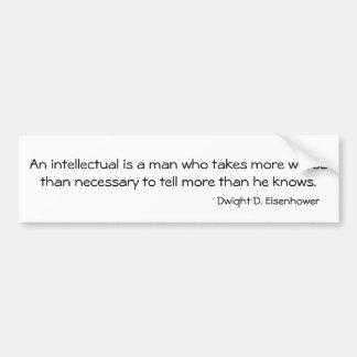 Eisenhower Quote Bumper Sticker