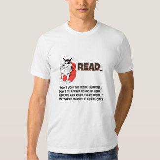 Eisenhower Read Books Book Burner Quote T Shirts
