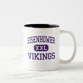 Eisenhower - Vikings - Junior - Lawton Oklahoma Two-Tone Mug