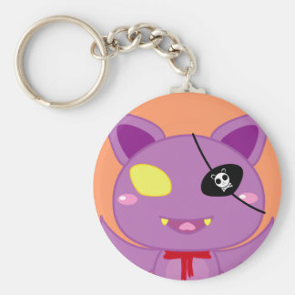Eitel the Bat Basic Round Button Key Ring