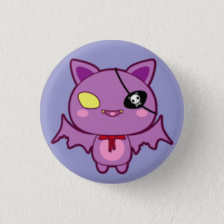 Eitel the Vain Bat 3 Cm Round Badge