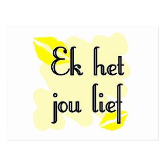 Ek het jou lief - Afrikaans- I Love You Post Card