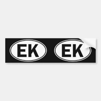 EK Oval Identity Sign Bumper Sticker