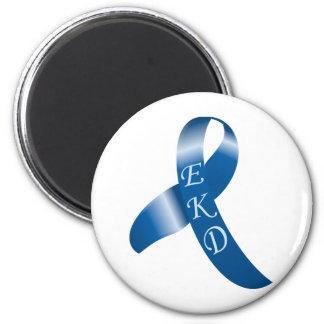 EKD Shiny Ribbon 6 Cm Round Magnet