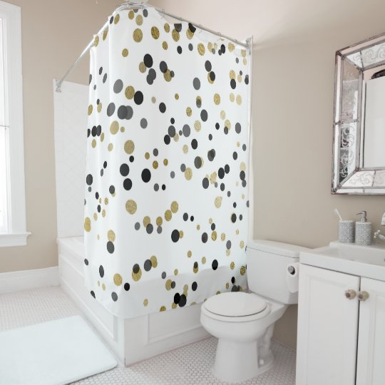 Ekegan Black White Gold Confetti Big Dots Minimal