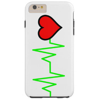 EKG Cardiogram Heart Tough iPhone 6 Plus Case