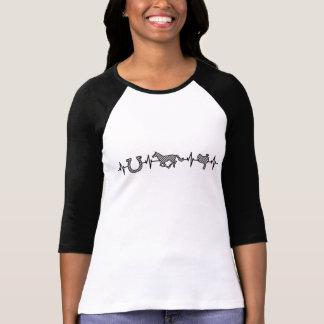 EKG Heart beats for horse riding T-shirt