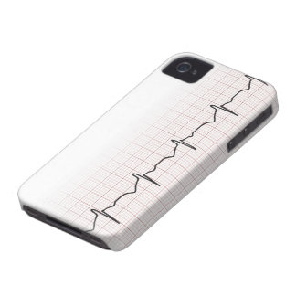 EKG heartbeat on graph paper, PhD (doctor) pulse iPhone 4 Case