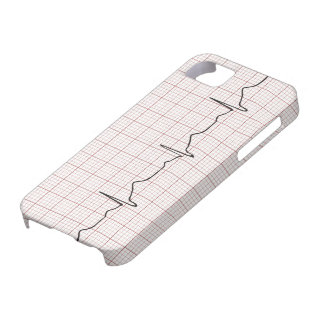 EKG heartbeat on graph paper, PhD (doctor) pulse iPhone 5 Cases