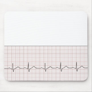 EKG heartbeat on graph paper, PhD (doctor) pulse Mouse Pad