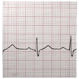 EKG heartbeat on graph paper, PhD (doctor) pulse Napkin