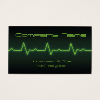 EKG Neon Business Card