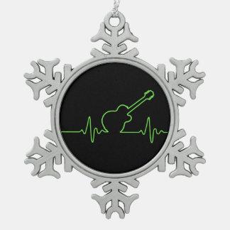 EKGuitar Pewter Snowflake Decoration