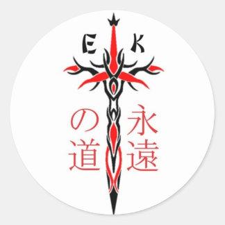 EKMA Sword Round Sticker