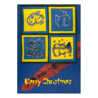 ekos blue Merry Christmas Gift Tag Pack Of Chubby Business Cards