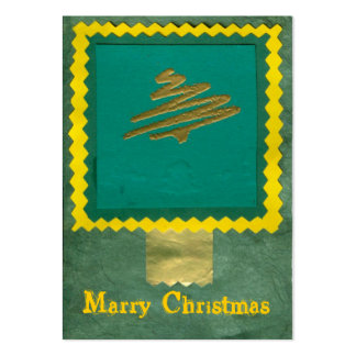 ekos green-yellow Merry Christmas Gift Tag Pack Of Chubby Business Cards