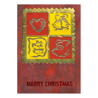 ekos red-yellow Merry Christmas Gift Tag Pack Of Chubby Business Cards