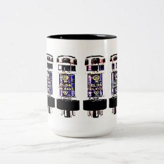 EL 34 Tubes Two-Tone Coffee Mug
