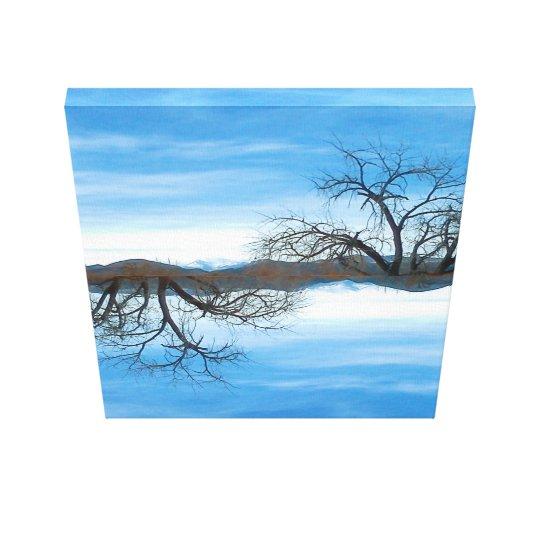 El Abuelo Del Cielo Blue Canvas Print