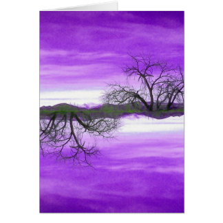 El Abuelo Del Cielo Purple Greeting Card
