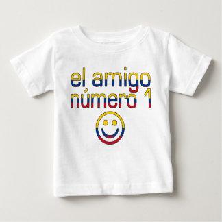 El Amigo Número 1 in Colombian Flag Colors 4 Boys Baby T-Shirt