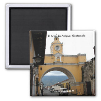 El Arco, La Antigua, Guatemala Square Magnet