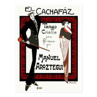 El Cachafaz Tango Postcard