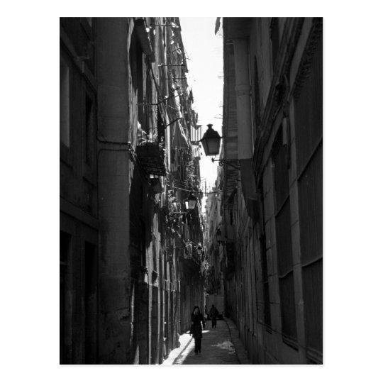 El Callejon Postcard (Barcelona, Spain)