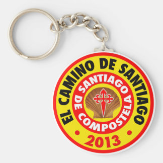 El Camino De Santiago 2013 Basic Round Button Key Ring