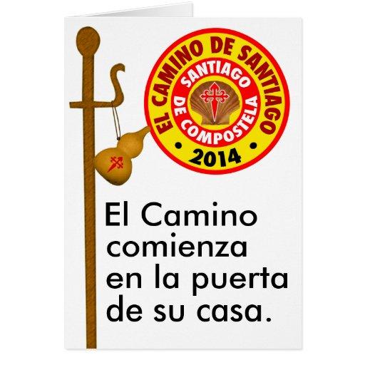 El Camino de Santiago 2014 Greeting Card
