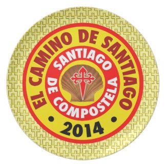 El Camino de Santiago 2014 Plate