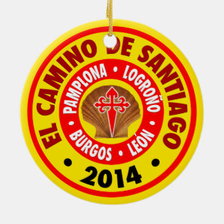 El Camino De Santiago 2014 Round Ceramic Decoration