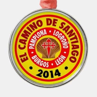 El Camino De Santiago 2014 Silver-Colored Round Decoration