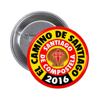 El Camino de Santiago 2016 6 Cm Round Badge