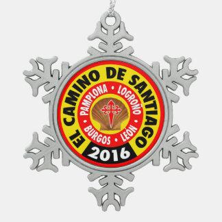 El Camino de Santiago 2016 Pewter Snowflake Decoration