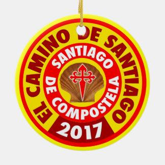 El Camino De Santiago 2017 Round Ceramic Decoration