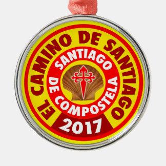El Camino De Santiago 2017 Silver-Colored Round Decoration