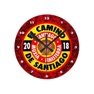 El Camino de Santiago 2018 Round Clock