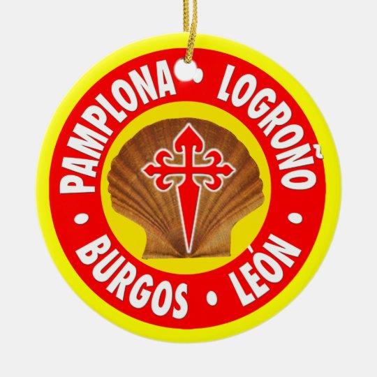 El Camino de Santiago Christmas Ornament