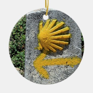 El Camino de Santiago de Compostela, Spain, shell Christmas Ornament