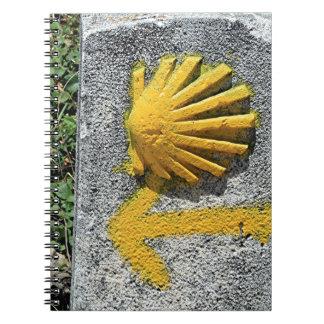 El Camino de Santiago de Compostela, Spain, shell Spiral Notebook