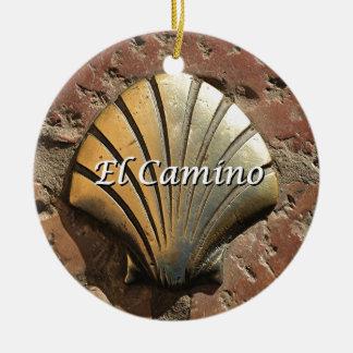 El Camino gold shell, Leon (caption) Christmas Ornament